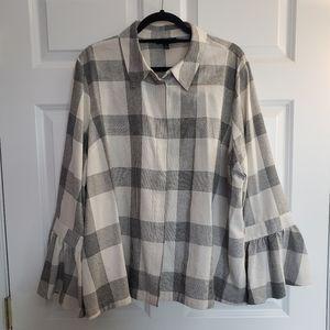 Lane Bryant Checkered Shirt